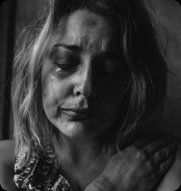 Bild einer verletzten Frau